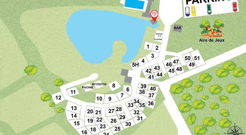 Plan du camping le chênes